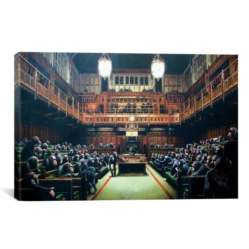 iCanvasART-Monkey-Parliament-Canvas-Art-Print-by-Banksy-18-by-12-Inch-0
