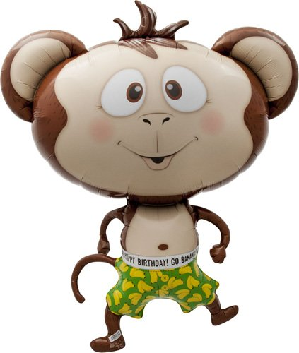 Birthday-Banana-Monkey-Helium-Foil-Balloon-41-inch-0