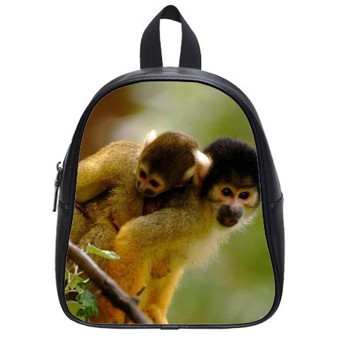 Cool-Style-Monkey-Kids-School-Bag-Funny-Animal-PU-leather-Backpack-0