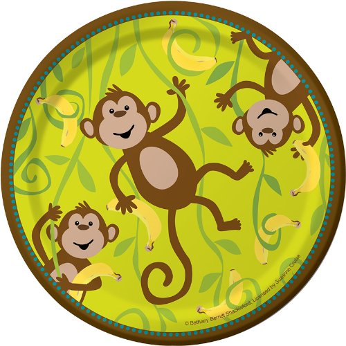 Creative-Converting-Monkeyin-Around-Round-Dessert-Plates-8-Count-0