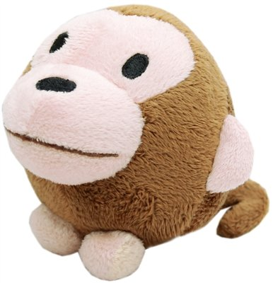 Critter-Safari-Monkey-Plush-Squeaky-Ball-Dog-Toy-0