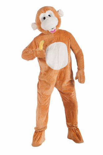 Forum-Novelties-Plush-Monkey-Mascot-Costume-Brown-Standard-0