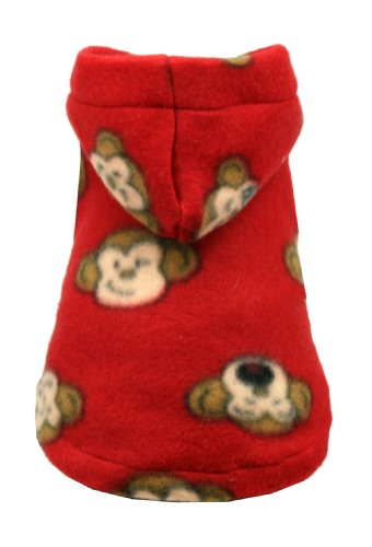 Hip-Doggie-Red-Monkey-Polar-Fleece-Hoodie-X-Large-0