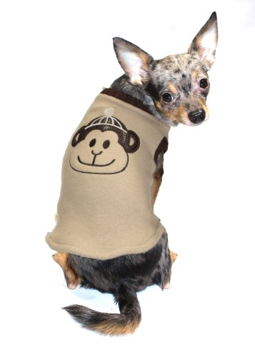 Hip-Doggie-Tan-Monkey-Sweater-Vest-Big-Dog-X-Small-0