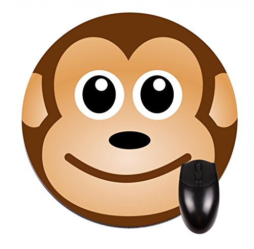 Monkey-Face-8-Round-Mouse-PadMouse-Mat-0