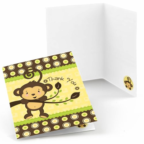 Monkey-Thank-You-Cards-8-count-0