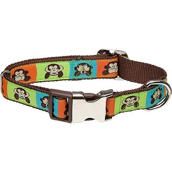 Petco-Adjustable-See-No-Monkey-Dog-Collar-in-Brown-0