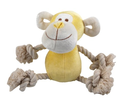 Simply-Fido-Bamboo-Rayon-Plush-Rope-Dog-Toy-Petit-6-Oscar-Yellow-Monkey-0