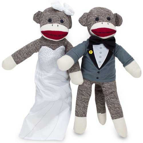 Sock-Monkey-Family-Bride-and-Groom-0