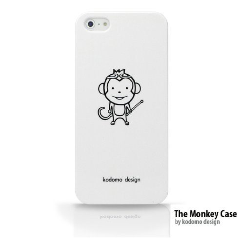iPhone-5-5s-Monkey-Character-Designer-Animal-Case-by-KODOMO-DESIGN--Hard-Plastic-White-Slim-fit-Snap-Carrying-Case-Cover-0