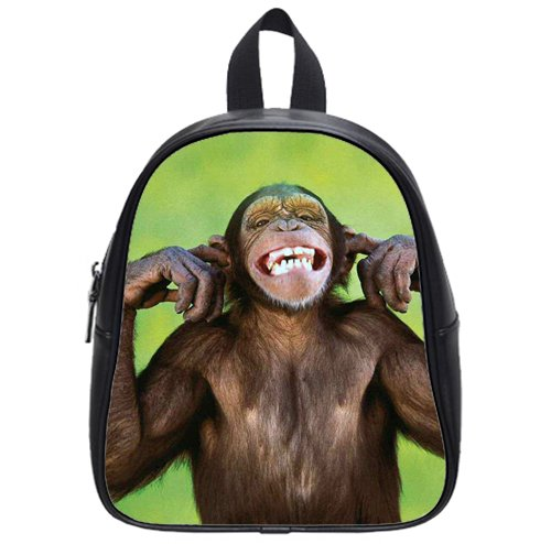 nice-The-world-too-noisy-monkeys-Custom-Kids-School-Backpack-BagSmall-decorative-0